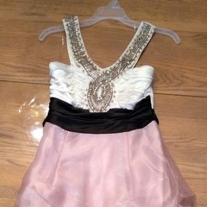 Light Pink and White Homecoming Dress